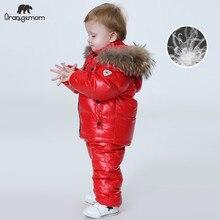 Orangemom/комплекты детской одежды для русской зимы Одежда для девочек на год, парка для мальчиков детские куртки, пальто пуховая зимняя одежда