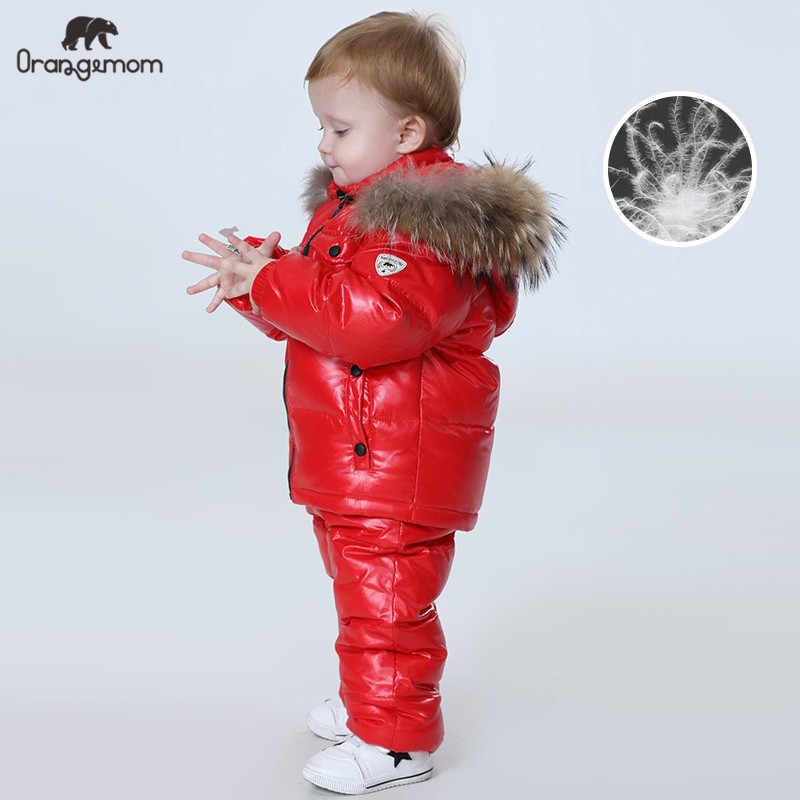 Orangemom רוסיה חורף בגדי ילדים סטים, בנות בגדי עבור הסילבסטר בני ילדי דובון מעילי מעיל למטה שלג ללבוש