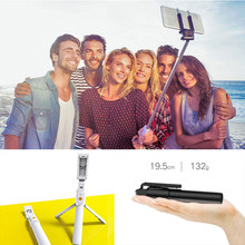 Selfie Stick Tripod For Phone Monopod For Selfie Stick Bluetooth With Shutter Remote Smartphone Stand Mobile Clip Wireless New(China)