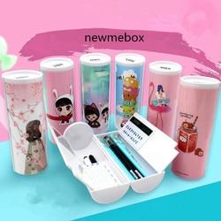 Unicorn Pensil Flamingo Sekolah Newmebox Estuche Escolar Kawaii Rousse Scolaire Stylo Nbx Kotak Pensil Kotak Pensil