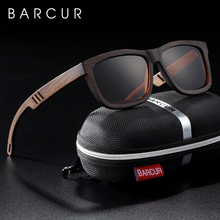BARCUR Platz Sonnenbrille Bambus Frauen Braun Holz sonnenbrille Männer Polarisierte Vintage oculos de sol lunette de soleil femme