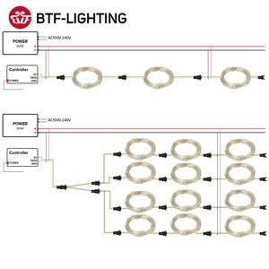 Image 5 - USB WS2812B RGB Led modul WS2812 IC LED 10 teile/mt Modul 5 6m String Streifen Licht Musik Controller individuelle Address DC5V