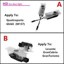 Araba kapı logosu projektör ışık HD için hoşgeldiniz ışık Maserati Quattroporte Ghibli Levante GranTurismo GranCabrio araba ışıkları
