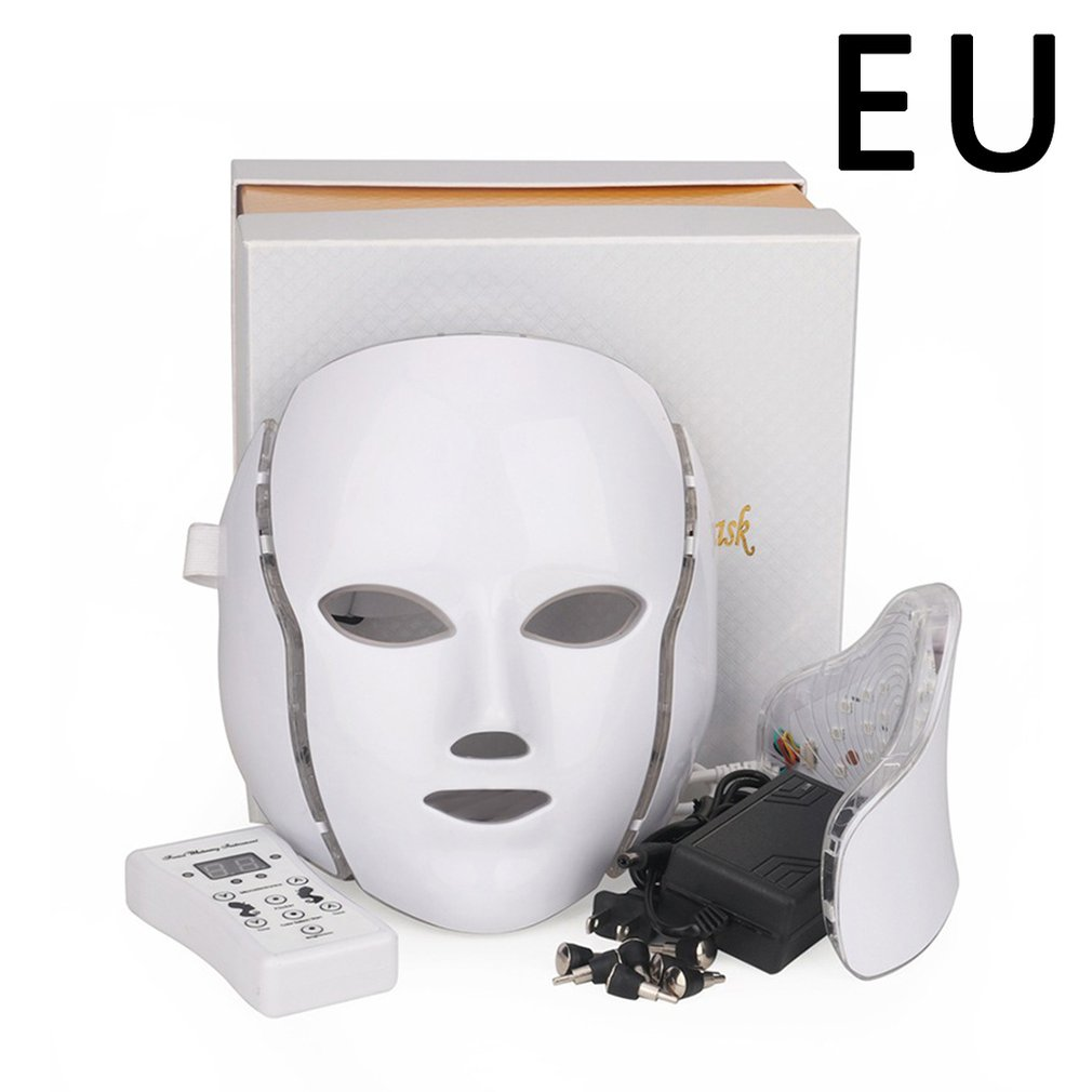 Facial Mask Photon Therapy 7 Color LED Face Instrument Neck Skin Rejuvenation Anti Acne Wrinkle Beauty Treatment Salon Home Care|Home Use Beauty Devices| - AliExpress