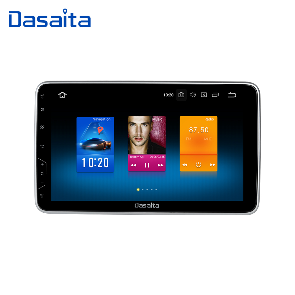 Dasaita 1 Din Universal Radio Android 9.0 Car GPS Navigation 10.2 IPS Touch Screen 1080P Video Bluetooth Stereo MP3 32G ROM
