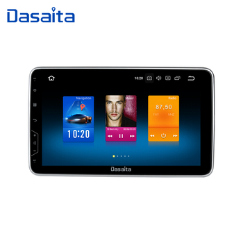 "Dasaita 1 Din Universal Radio Android 9.0 Car GPS Navigation 10.2"" IPS Touch Screen 1080P Video Bluetooth Car Stereo MP3 32G ROM"