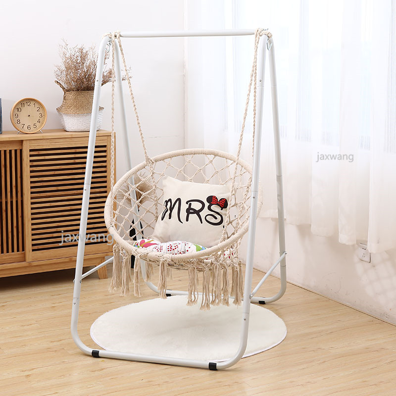 Round Hammock Chair Swing Chair Dormitory Bedroom Yard For Child Adult Swinging Hanging Single Safety Chair Swings Aliexpress
