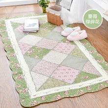 Carpet Area Rugs Bedroom Living-Room Cotton Doormat Anti-Slip Patchwork for Seam Soft-Quilting