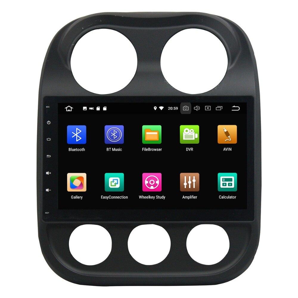 Jeep boussole | Android 9 DSP 64G, navigation GPS de voiture pour Jeep boussole 2014-2015 multimédia, lecteur sans DVD, unité de tête radio, lecteur enregistreur stéréo