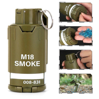 CS Eat Chicken Tactical Hunting Water Bomb Mine Grenade Burst Toy Gun Outdoor Water Bomb Mine Sound And Light Grenade COS 1