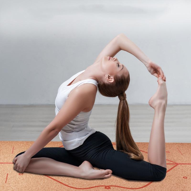 183X68cm Natural Cork TPE Yoga Mat Fitness Gym Sports Mats Pilates Exercise Pads Non-slip Yoga mats 5mm Sweat Absorbing Odorless