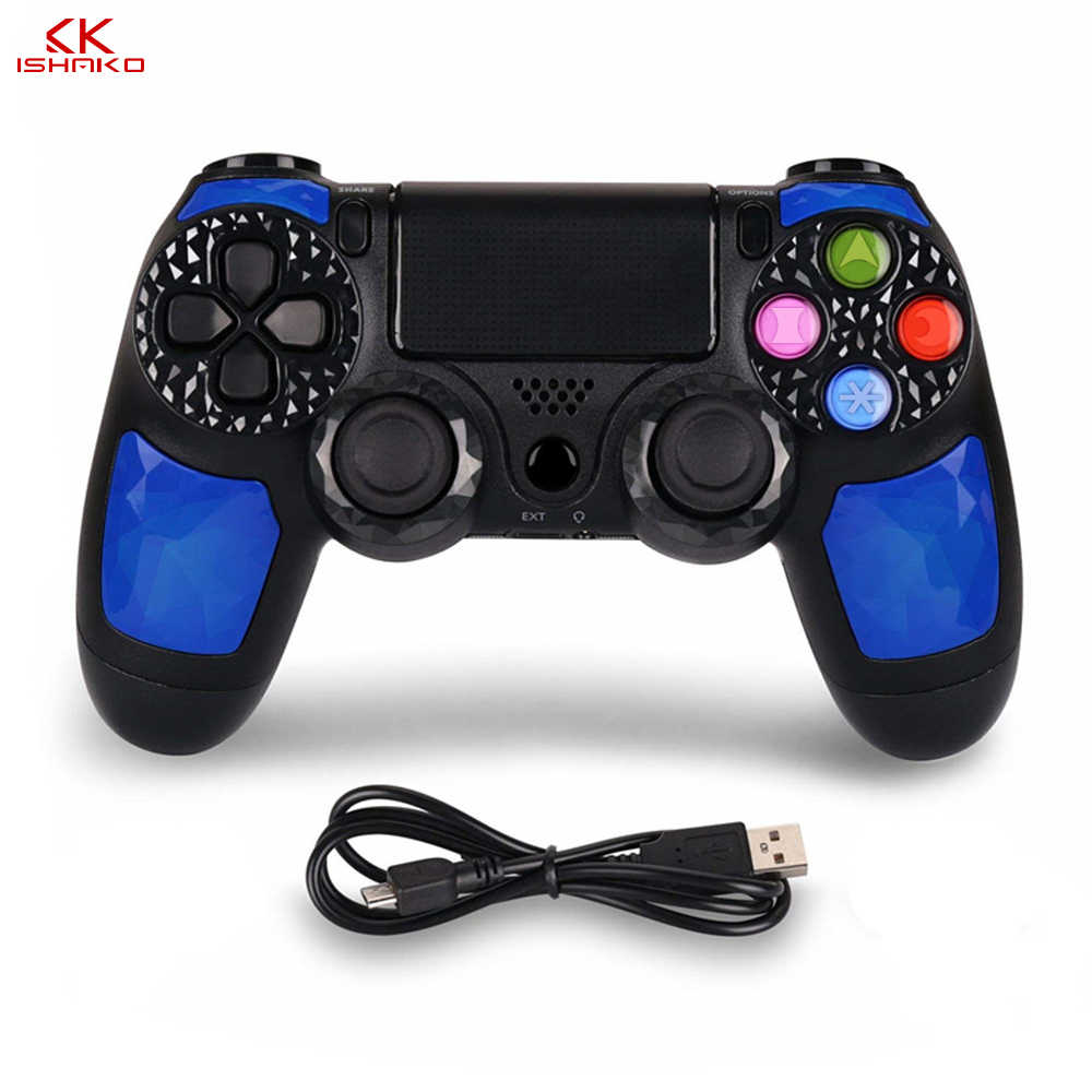 Kontrol Nirkabel Gamepad Double Shock4 Joystick untuk Sony PlayStation 4/PS4 Pro/PS4 Slim dengan 3.5 Mm Headset plug