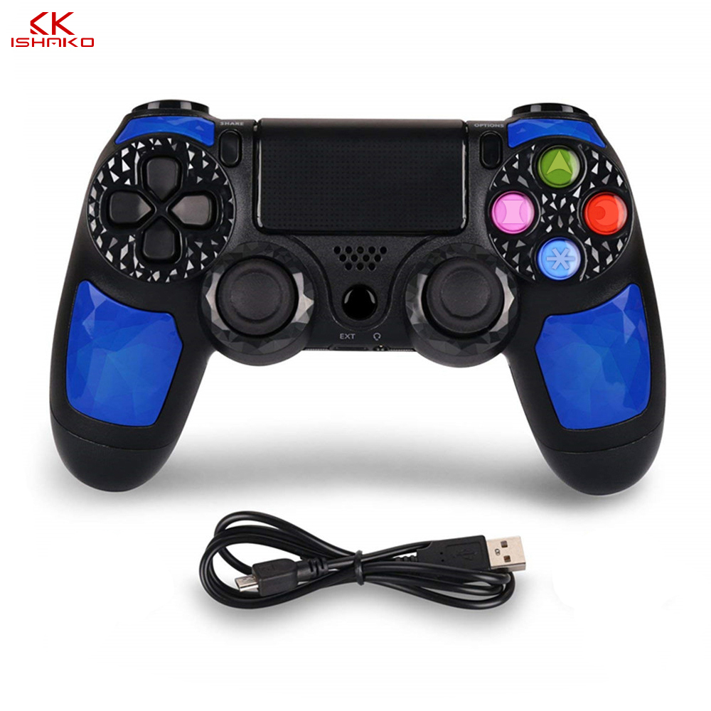 Controller Wireless Gamepad Double Shock4 Joystick for Sony Playstation 4 PS4 Pro PS4 Slim with 3 5mm Headset Plug in Gamepads from Consumer Electronics