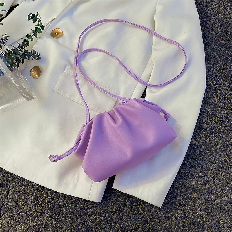 Candy Color Mini Solid Color PU Leather Shoulder Bags For Women 2020 Simple Crossbody Handbags Lady Cross Body Bag