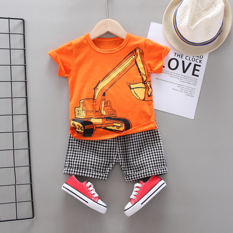 IENENS Infant Summer Clothing Sets Boy Short Sleeves Clothes Set 2020 New Tops + Shorts Boys Outfits Baby Costume Suit