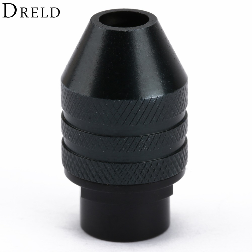 1Pc Multi Chuck Keyless For Dremel Drill Rotary Tools 0.3-3.2mm Keyless Drill Bit Chucks Adapter Converter Universal Mini Chuck