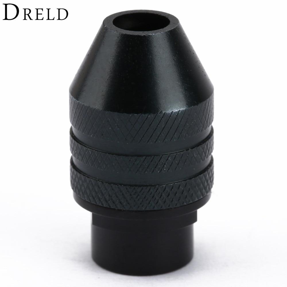 1Pc Multi Chuck Keyless For Dremel Drill Rotary Tools 0.3-3.2mm Keyless Drill Bit Chucks Adapter Converter Universal Mini Chuck