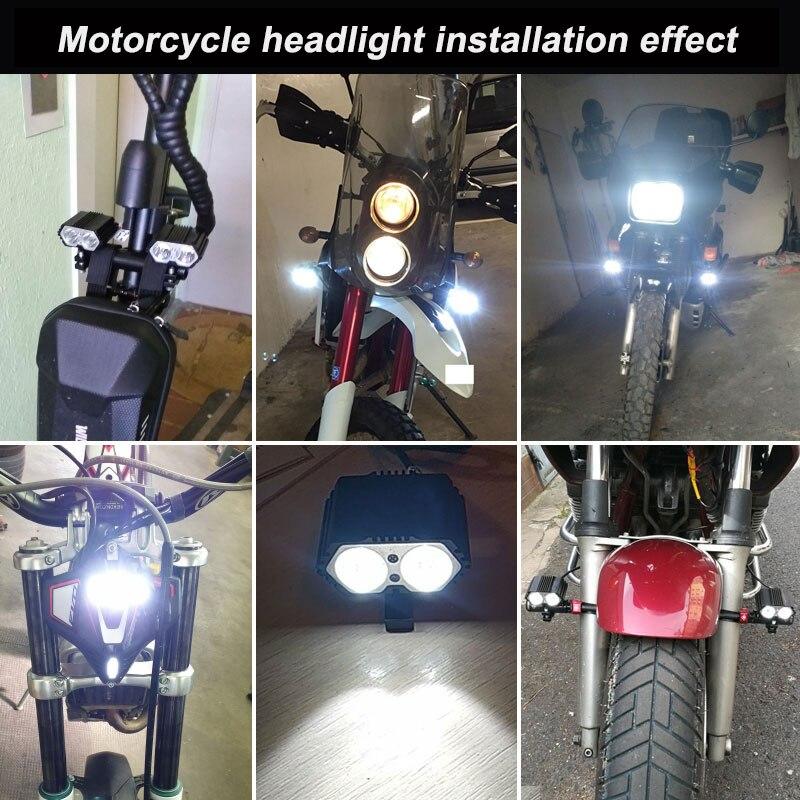 lowest price Universal H4 Motorcycle Headlight Dirt Bike Motocross Dual Sport Head Light For KTM EXC SX SXF XC MX SMR Enduro Supermoto