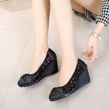 AARDIMI Bling Summer Platform Shoes Cut-outs Wedges Shoe Wom