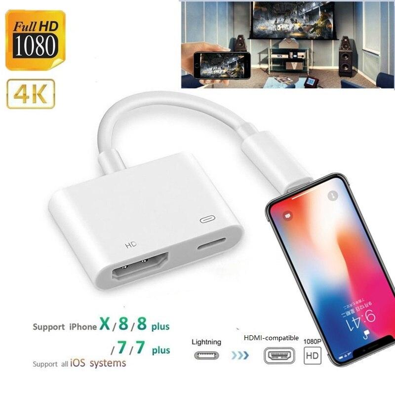 4K 1080P для iPhone HDMI-совместимый аудиоадаптер VGA для iPhone ipad AV адаптер конвертер для iPhone X/11/8P/6S/7P/iPad Air