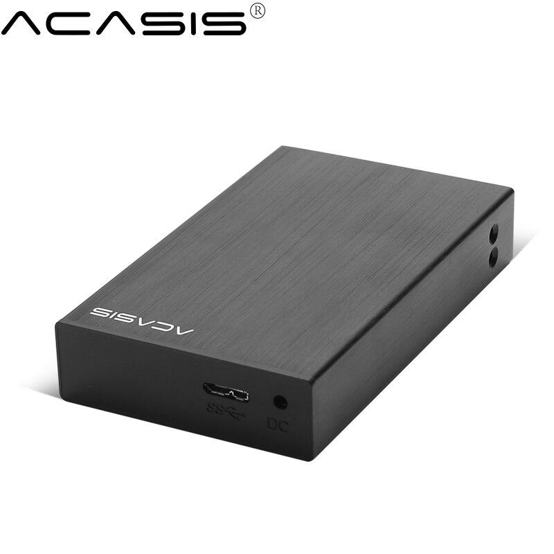 Acasis HDD Enclosure USB3 0 2 5inch 2plate SATA hard drive box 5Gbps external hdd docking station support RAID 2TB