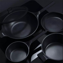 Original Huohou NonStick Super Platinum Frying Pan Wok Stockpot Milk Pan Durable Easy to Clean High Temperature Reminder Kitchen
