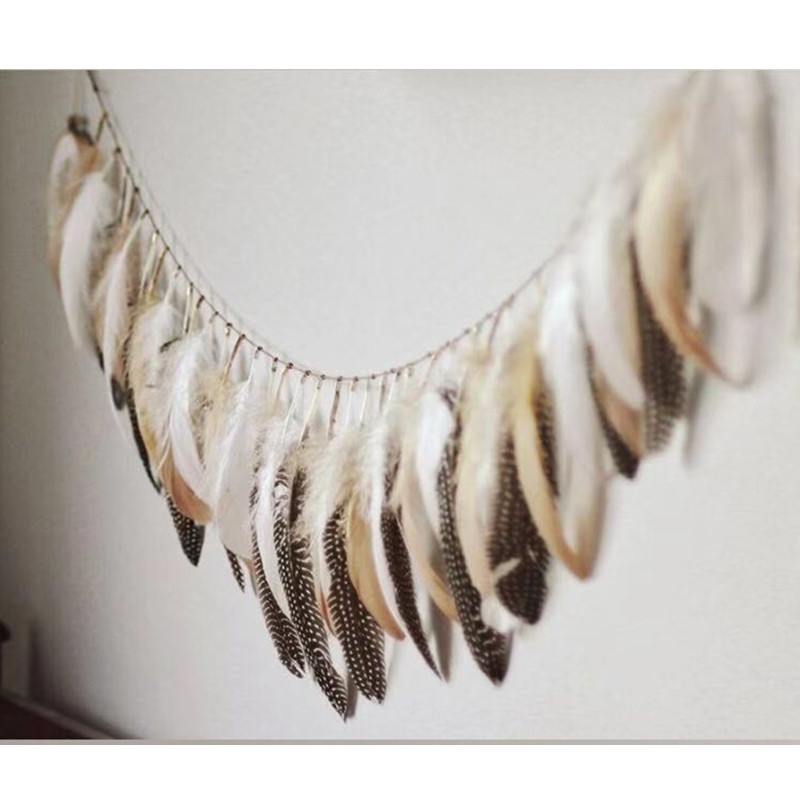 1.5M INS Nordic Feather Hanging Newborn Baby The Crib Infant Room Decor Photography Props Baby Bedroom Decoration Pacifying Toys