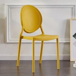 Silla de plástico minimalista moderna, silla de oficina nórdica, silla de comedor creativa para el hogar, silla con cuernos casual para café