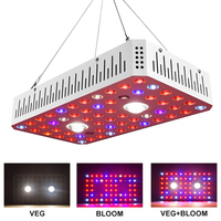 Qkwin FUN COB LED hydroponics GROW LIGHT 1200W real power 210W and double chip leds dual LENS for high par value