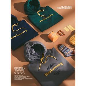Image 2 - SIMWOOD 2020 Herbst winter neue mit kapuze hoodies 100% baumwolle brief Berg druck kontrast farbe sweatshirts plus größe SI980565