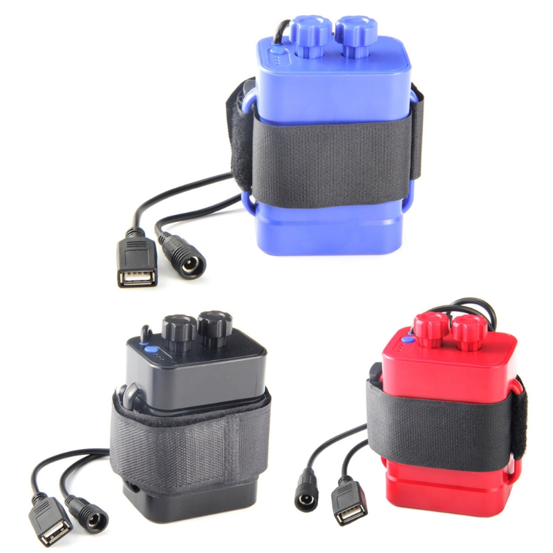 DC 8.4V USB 5V 6x <font><b>18650</b></font> Battery Storage Case <font><b>Box</b></font> For <font><b>Bike</b></font> LED Light Cell Phone image