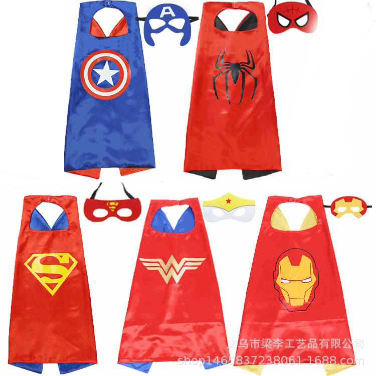 55inch//140cm Adult Superhero Cape Batman Spider Captin American Women Wonder Cos