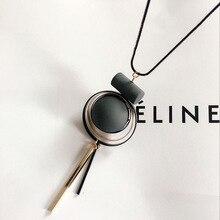 Богемное геометрическое деревянное винтажное ожерелье ручной работы с кисточкой и длинной цепочкой для свитера модные женские ювелирные аксессуары