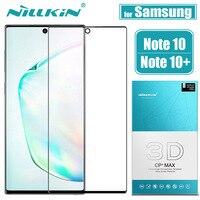 Para Samsung Galaxy Note 10 Plus Pro 5G Protector de pantalla de vidrio NILLKIN 3D cubierta completa de pegamento de vidrio templado para note10 Pro Nota 10 +