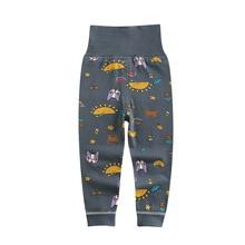 Cartoon Print Pajamas Girls High Waist Leggings For Baby Boys Openable Pants 2020 Autumn Children Skin-friendly Comfortable Pant
