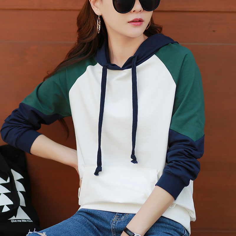 Women Casual Winter Sweatshirt Long Sleeve Pullover Femme Hooded Cactus Printed SweatshirtsBlack