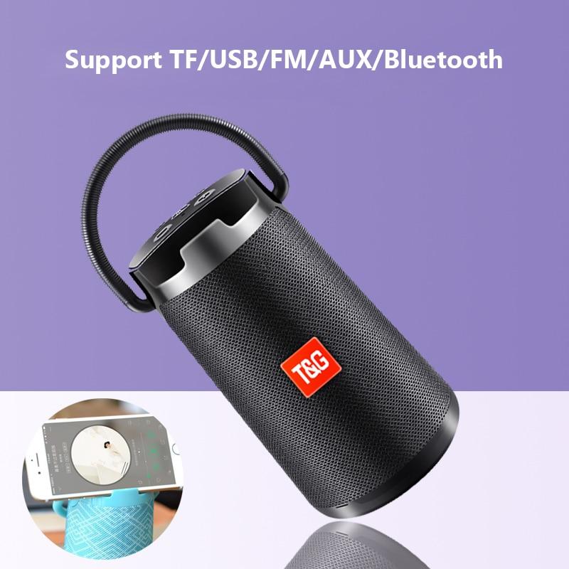 10 Вт Высокая мощность беспроводной bluetooth динамик открытый водонепроницаемый портативный аудио ubwoofer с AUX TF карты коробка TG138