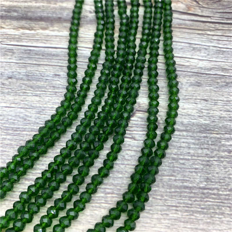 1 Mm/2 Mm/4 Mm/6 Mm/8 Mm/10 Mm/12 Mm kristal Romp Manik-manik Segi Glass Beads untuk Perhiasan Membuat Diy Aksesoris Grosir Banyak Massal