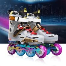 Premium Roller ayakkabı tek sıra tekerlekli paten ayakkabı ab 35 44 makaralı kayak ayakkabıları açık spor Patines erkek kadın erkek kız