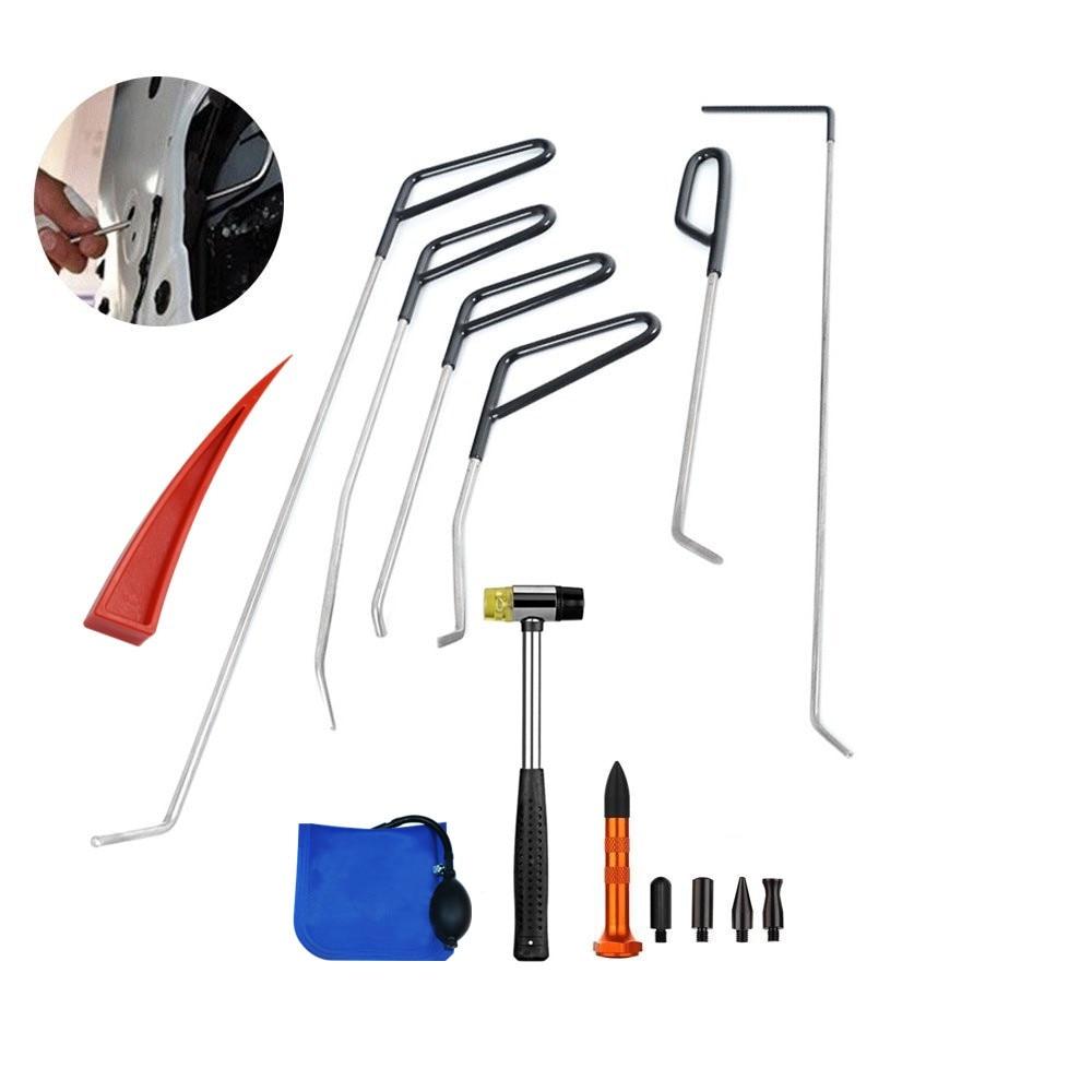 Pdr automotivo paintless dent repair repair tools kits extrator ferramentas de reparo granizo pdr ganchos hastes bomba cunha torneira para baixo caneta