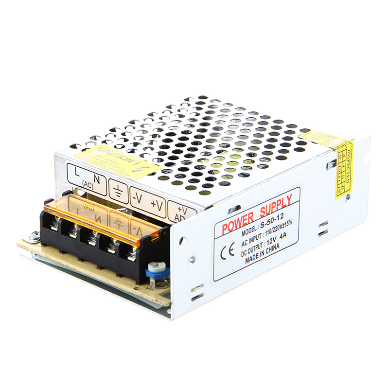 Transformateur LED transformateur électronique 50W 4A 100-220V ca à 12V cc