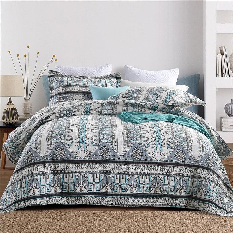 Best Promo 030d4 Chausub Cotton Bedspread Quilt Set 3 Piece