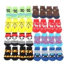 Хлопковые носки для собак-милые мягкие теплые носки для собак и кошек хлопковые нескользящие Повседневные носки для домашних животных Костюм S-XL