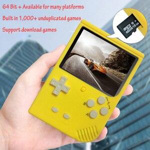 Image 2 - レトロポータブルミニゲームコンソール 64 ビット 3.0 インチカラー液晶子供色ゲームプレーヤー内蔵 1000 ゲームsdカード