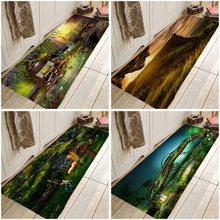 Landscape Secnic Rug Hallway Carpets Coral Fleece  Rugs for Bedroom Living Room Carpet Kitchen Bathroom Anti-Slip Floor Mats