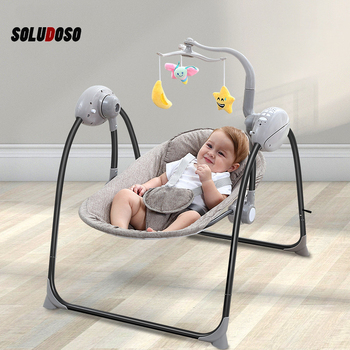 Baby Rocker Baby Swing Cradle Jumper Electric Rocking Crib Intelligence Remote Control Newborn Foldable Rocking Chair electrical baby cradle rocking chair folding baby bed cradle baby rocking newborn crib musical chair plastic toys moonlight star