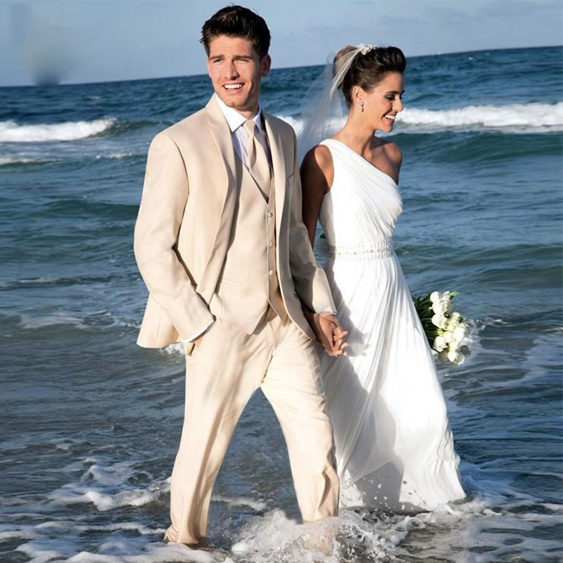 Summer Beach Men Suit For Wedding Suits Bridegroom Groom Blazer Custom Made Slim Fit Casual Tuxedo Best Man 3 Pieces