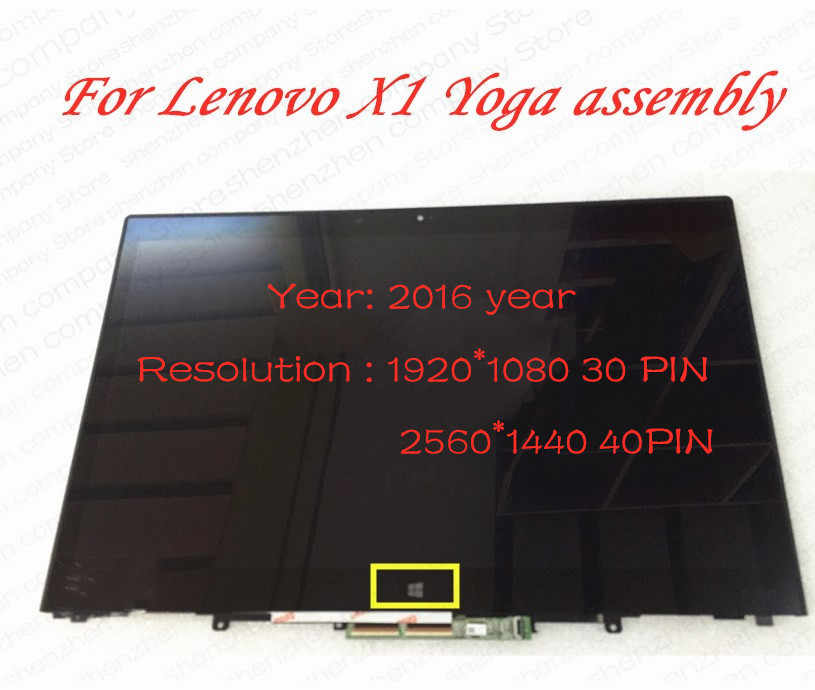 E1 SP YCLM 14.0 Touch Assembly for Lenovo X1 Yoga LCD Screen+Touch Digitizer Assembly 2560X1440 3K WQHD with Bezel FRU:00UR190 LP140QH1