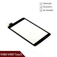 Freies verschiffen Neue Original Für LG G Pad F 8 0 V480 V490 Touchscreen Digitizer Glas Panel Ersatz Schwarz + werkzeuge-in Tablett-LCDs und -Paneele aus Computer und Büro bei