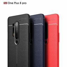 Dermatoglyph Soft Cover Full Protection Carbon Fiber TPU Silicone Phone For Oneplus 8 8Pro 7T 7TPro 7 7Pro 6 6T 5 5T Case